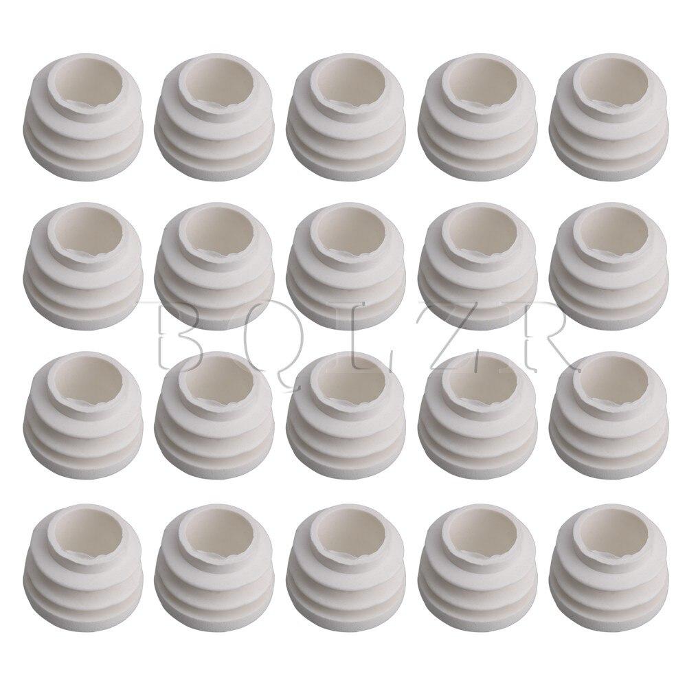 20x BQLZR 19 мм 25 мм 32 мм внутренний диаметр Белый Круглый трубки Пластик заглушку конец заглушки трубки стол Glide вставить отделка plug