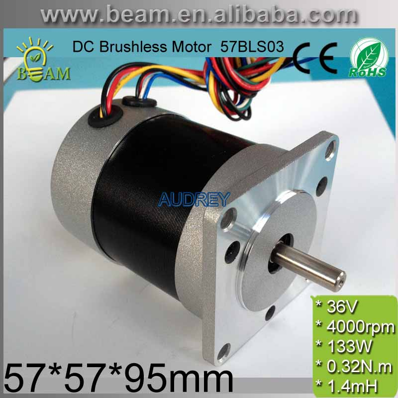 FREE SHIPPING Square Head and Circle Fuselage 36V 92W 0.32 N.m 4000rpm 57mm 3 phase DC Brushless Motor 57BLS03 BLDC MOTOR free shipping 1000w 36v dc brushless