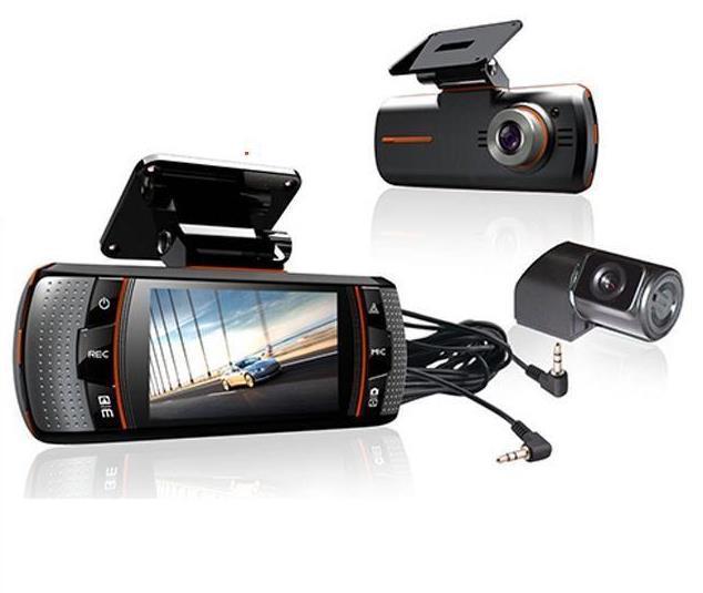 ls650W Car DVRS Dual Camera lens1920x1080p 20FPS 2.7' LCD External IR Rear Camera Allwinner Dashcam Car DVR night version