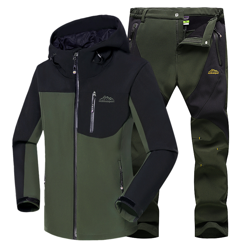 Softshell Jacket Men Hiking Clothing Waterproof Sport Jacket Winter Sports Jacket Windproof Outdoor Clothing Mens Sport Coat  cube softshell jacket blackline