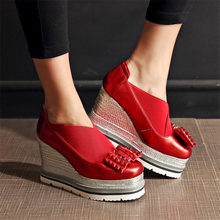 Fashion Shoes Women Cow Leather Spike Studded High Heel Party Pumps Low Top Casual Ankle Boots Punk Sneakers