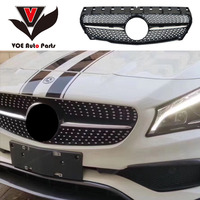 W117 Diamond Style ABS Black Car Front Racing Grill Grille for Mercedes Benz CLA180 CLA200 CLA220 CLA250 CLA260 2013 2018