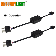 CNSUNNYLIGHT Error Free LED Wiring Harness Adapter Anti-Flicker Decoder for Car Headlight Bulb H4/H7/H8/H11/H13/9005/9006 CANBUS