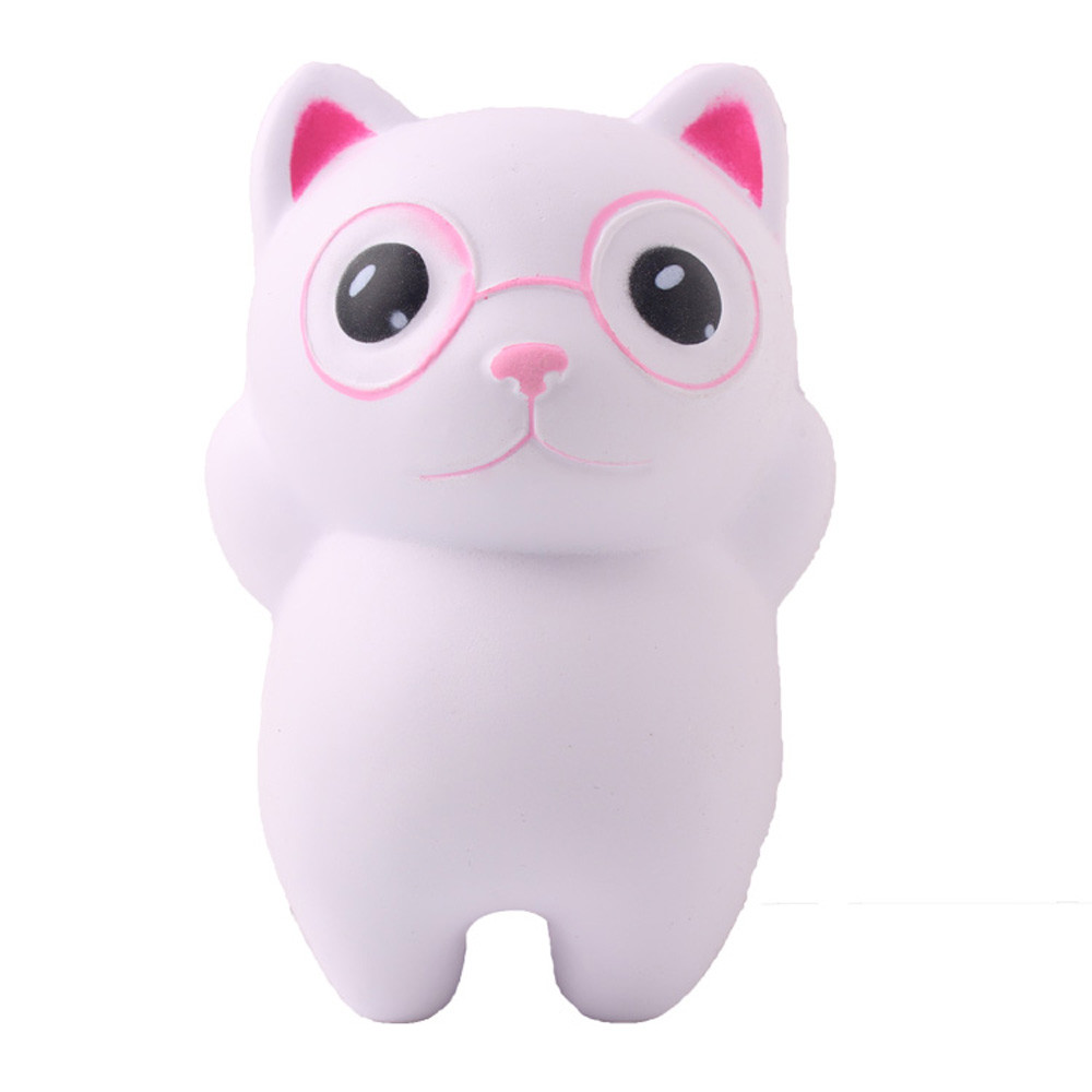 Kawaii Eyeglass Cat Scented Squishies Doll Slow Rising Stress Relief Squeeze Toys Scented For Baby Kids Gift Anti Stress Toy