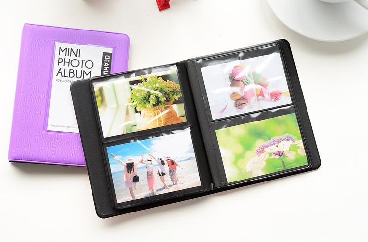 5 Colors Can Chose Cute Mini Holds 64 Pieces 3 Inch Photos Instax Mini Camera Album Photo Album