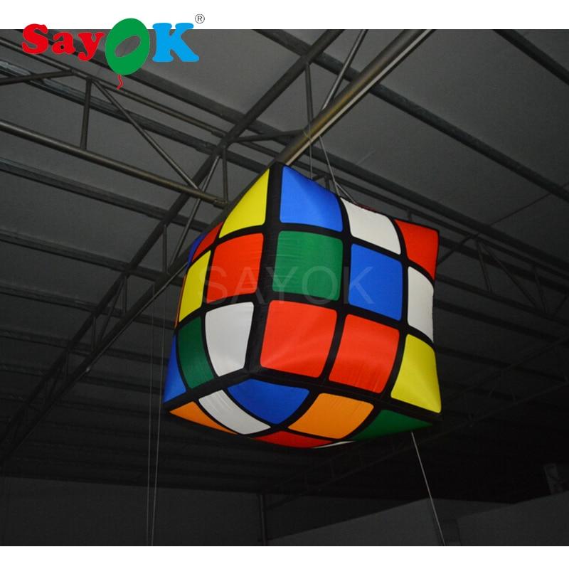 1 m (3.28ft) nouveau cube gonflable de la conception led/cube magique gonflable/cube gonflable pour l'événement, pub, partie, décoration de plafond - 2