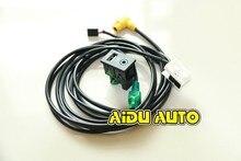 Passat Tiguan Touran USB+AUX Switch Plug USB AUX Surface Housing+Cable For RCD510 3CD 035 249 A
