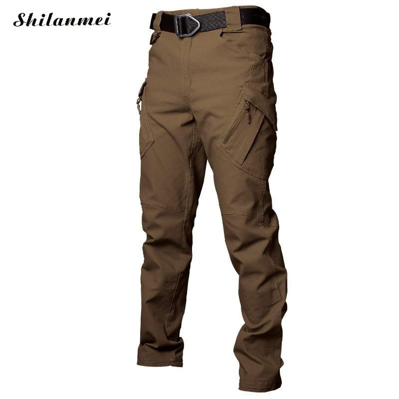 2018 hommes randonnée pantalon Softshell pantalon plein air pantalon homme imperméable montagne Trekking Ski Sport pantalon S-XXXL grande taille - 3