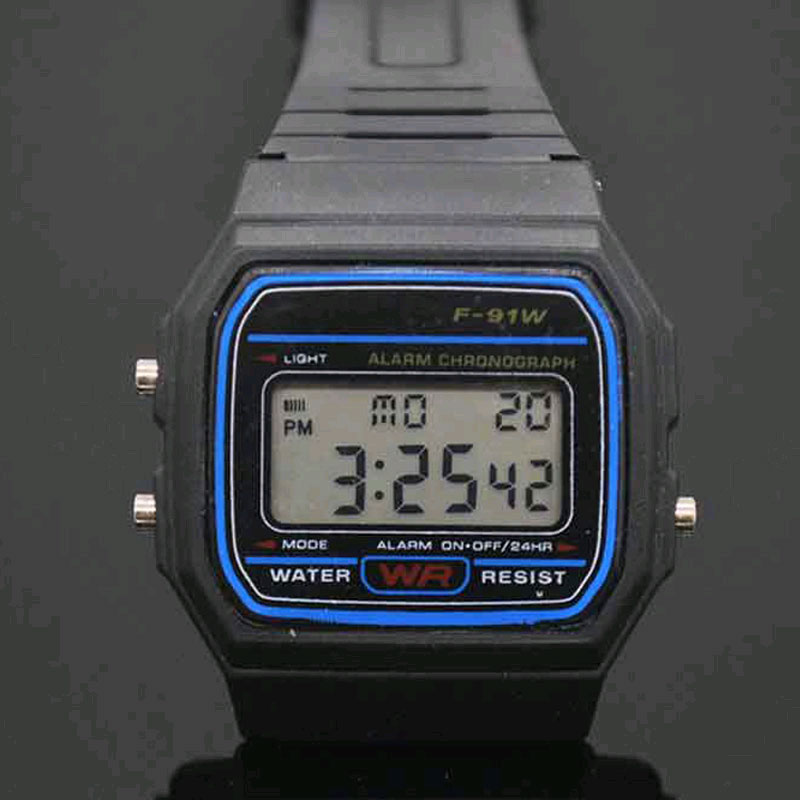 LED ψηφιακά μαύρα πλαστικά ρολόγια ανδρικά αθλητικά ρολόι φωτεινό ... d7651d7379f