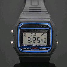 الصمام البلاستيك الأسود الساعات الرقمية للرجال الرياضة ووتش مضيئة F91W ساعة اليد الإلكترونية
