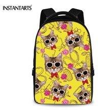 Instantarts Повседневное Для женщин рюкзак Средняя школа студенты сумка для подростков Обувь для девочек с милым принтом путешествия компьютер рюкзаки