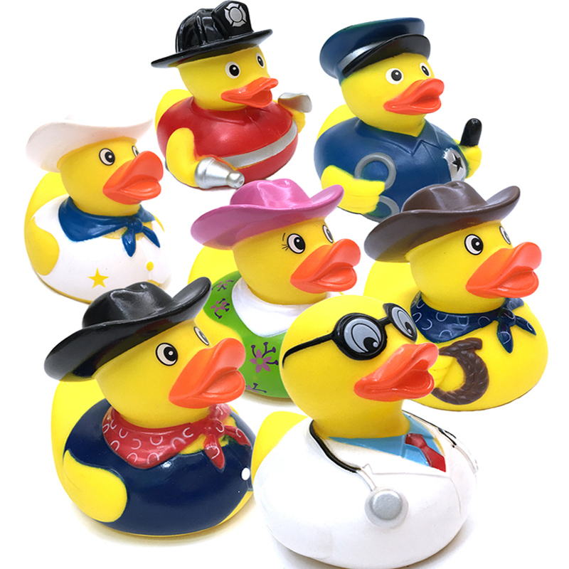 1 Pcs Kids Plastic Bath Toys Duck Floating Yellow Rubber