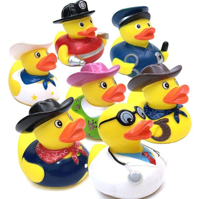1 Pcs Kids Plastic Bath Toys Duck Floating Yellow Rubber Ducks ...