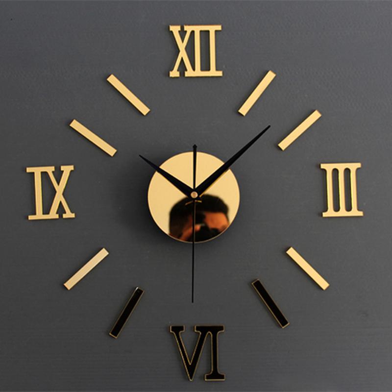 3d crative romae numrique horloge murale montre design moderne horloge diy horloges murales sur le mur
