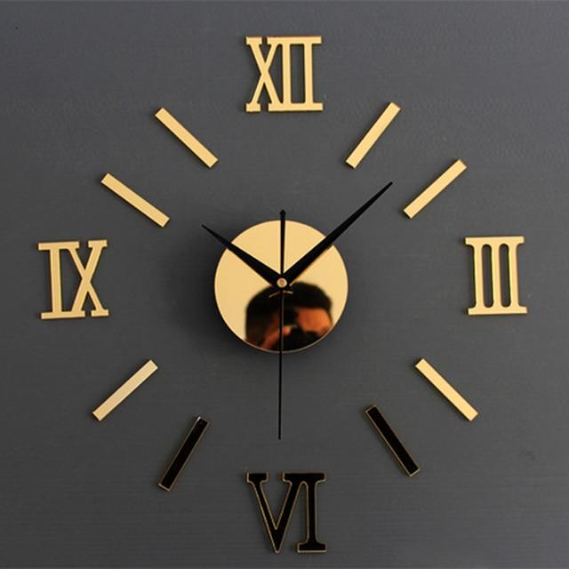 3D Kreativ Romae Digitale Wanduhr Aufkleber Uhr Modernes Design ...