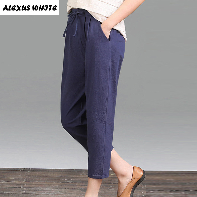 Popular White Capris Pants-Buy Cheap White Capris Pants lots from ...