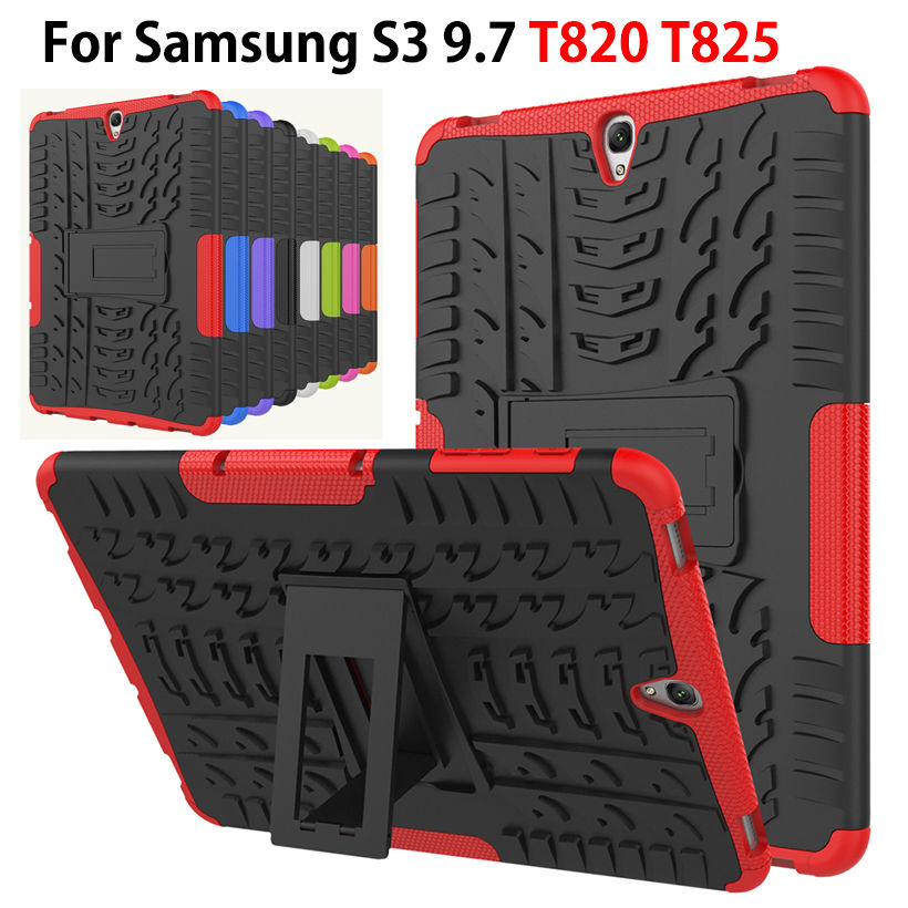 Armor Case For Samsung Galaxy Tab S3 9.7 T820 T825 Cover Funda Tablet TPU & PC Heavy Duty Case Dazzle Hybrid Rugged Rubber Shell