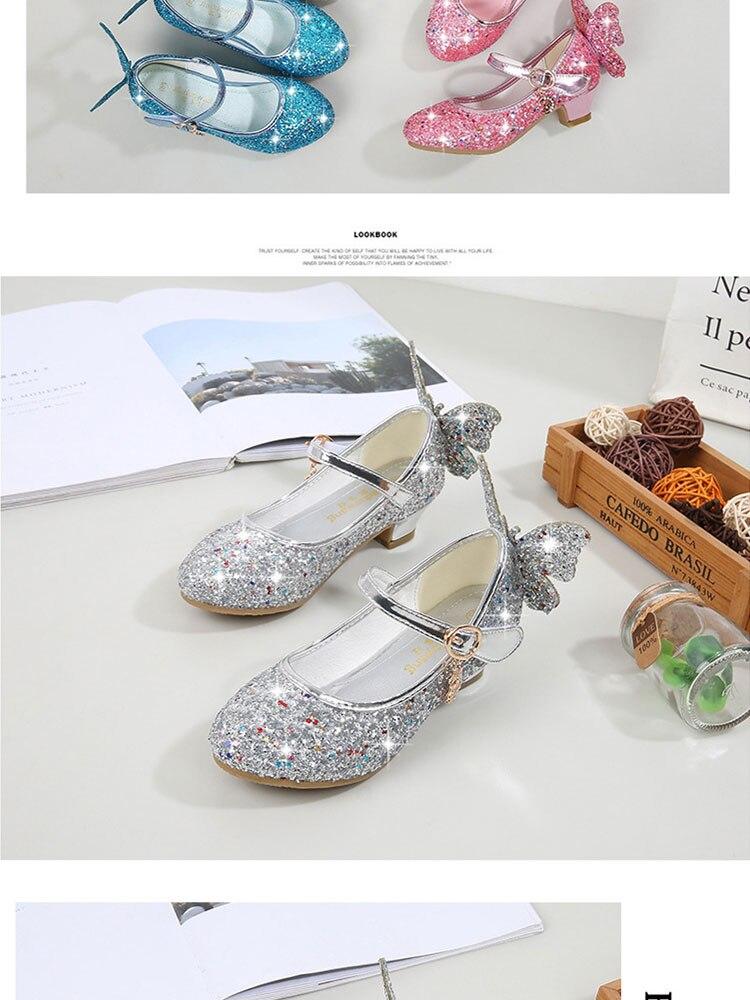 Crianças princesa meninas sapatos, sandálias para crianças