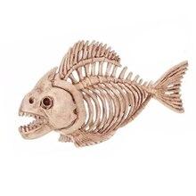 שלד דגי 100% פלסטיק עצמות שלד בעלי החיים עבור אימה ליל כל הקדושים שלד