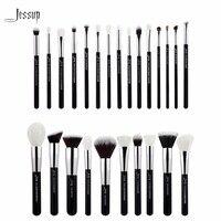 Jessup Black Silver Professional Makeup Brushes Set Make Up Brush Tools Kit Foundation Powder Blushes T175