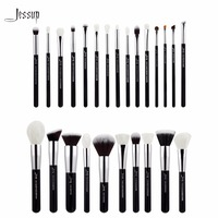Jessup Black Silver Professional Makeup Brushes Set Make Up Brush Tools Kit Foundation Powder Blushes T175