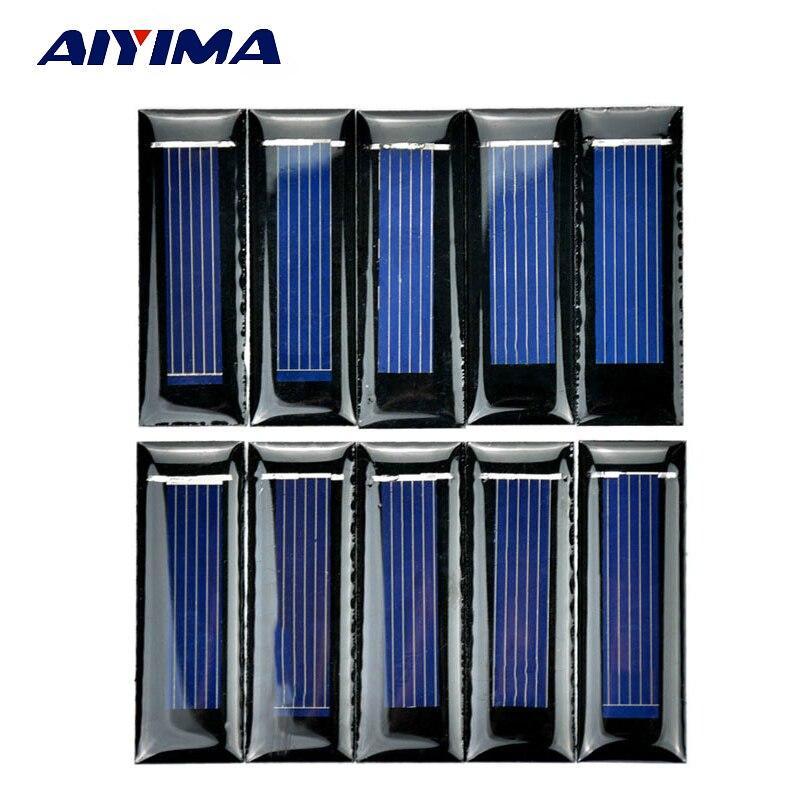 Aiyima 10pcs Mini Solar Panel New 0 5v 100ma Solar Cells