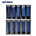 AIYIMA 10Pcs Mini Solar Panel New 0.5V 100mA Solar Cells Photovoltaic panels Module Sun Power battery charger DIY 53*18*2.5mm