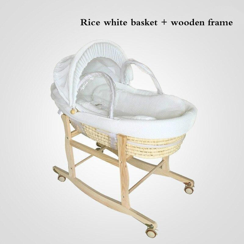 Livraison gratuite 2in 1 Portable bébé panier main panier nouveau-né à bord Ttraw panier bébé berceau bébé lit de couchage