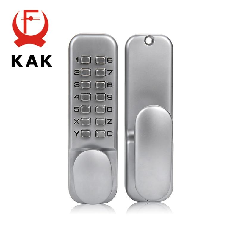 KAK цинковый сплав Keyless комбинации механические цифровой дверной замок без Мощность Кнопка код замки для мебель дома