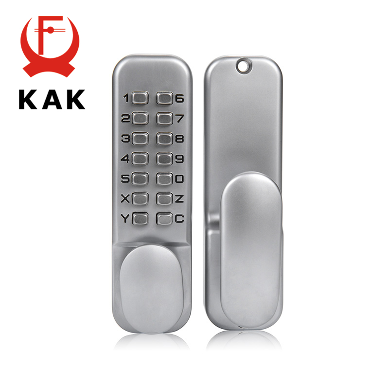KAK Zinc Alloy Keyless Combination Mechanical Digital Door Lock No Power Push Button Code Locks For Home Furniture Hardware