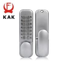Zinc Alloy Keyless Combination Mechanical Digital Door Lock no need Power Push Button Code