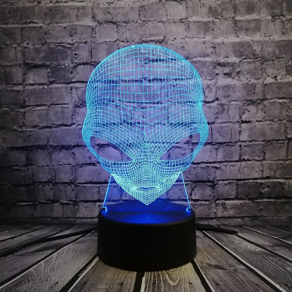 Llambë 3D Lodër e Lartë Lodër USB Ndriçimi LED LED 7 Ngjyrat Ndryshimi i Iluzionit Dekor për Dhoma gjumi Djalosh i ftohtë Ditë e natës Fëmijët Dhuratë për Halloween
