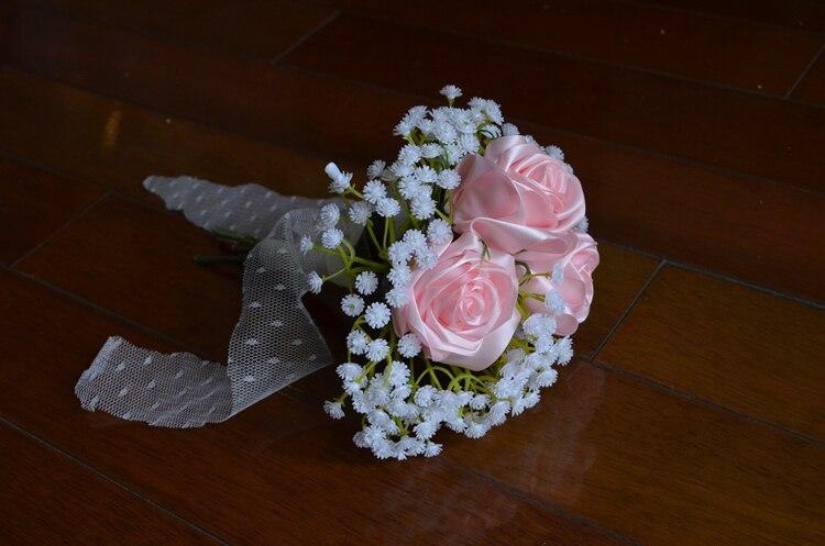Қолмен жасалған Silk Satin Роза гүлі 3 - Үйлену керек-жарақтары - фото 3