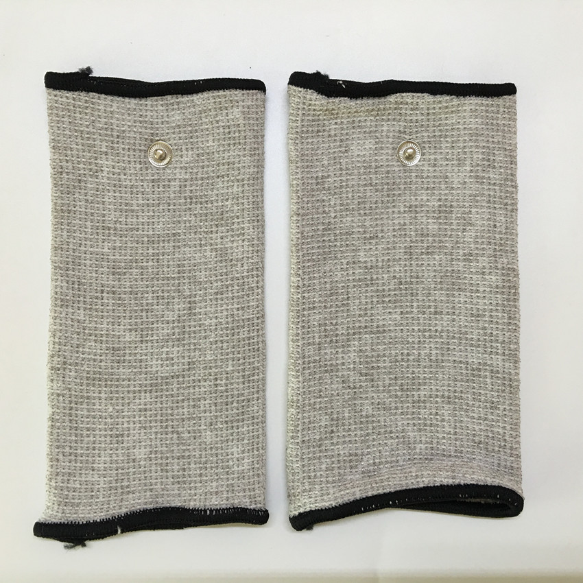 Freeshipping 2pcs Silver fiber Electrode massage Wrist/knee/Socks,prevent rheumatism,electrode stimulation TENS/EMS accessories