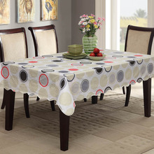 Sytlish Table Cloth Country Style Circles Print Multifunction Rectangle Table Cover Tablecloth Home Kitchen Decoration simanfei linen table cloth country style plaid print stylish rectangle table cover tablecloth home kitchen decoration
