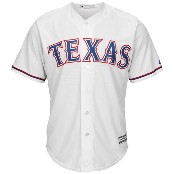 MLB Mens Texas Rangers Derek Holland Baseball White Home Cool Base Player Jersey