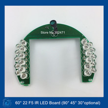 Infrared 22 x 5 IR LED board for Dome CCTV Cameras night vision 60 Degree Bulb