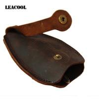 Retro Vintage Crazy Horse Genuine Leather Key Wallet Keychain Covers Key Case Bag Men Key Holder