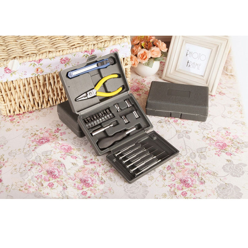 New Arrival HOT SALE Multifunction Home Hand Tool Set 24PCS Hardware Combination Household Tools in Box Hand Tool Set HR