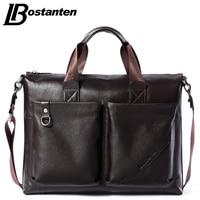 Bostanten Men Briefcase 2015 New Soft Leather Handbags Men Shoulder Messenger Bag Crossbody Bag Travel Bag