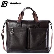 Bostanten Männer Aktentasche 2016 Neue Weiche Leder Handtaschen Männer Schulter Messenger Bag Umhängetasche Reisetasche Leder Laptoptasche