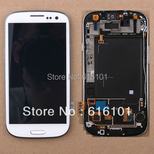 LCD Display Touch Screen Digitizer Assemble With Frame For Samsung Galaxy S3 III i9300