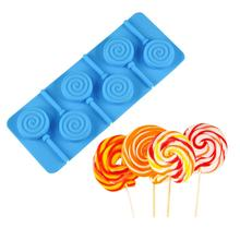 3D Handmade Sucker Sticks Lolly Candy Chocolate Mould DIY Doughnut Lollipop Mold make Popsicle silicone tool