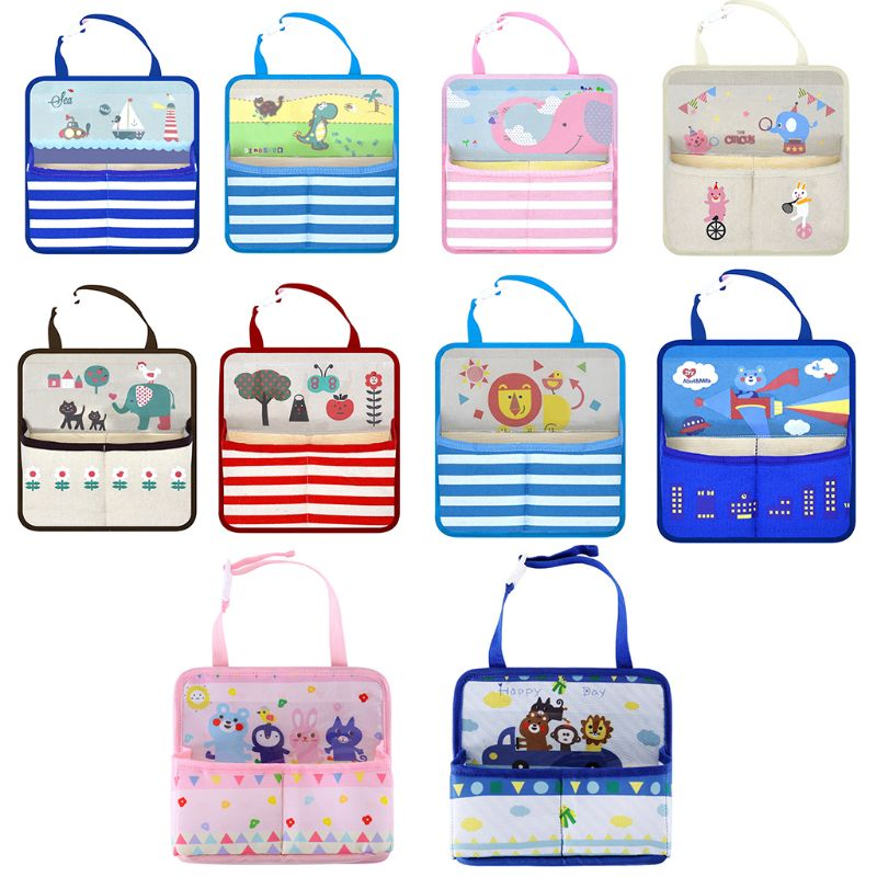 Reasonable Baby Stroller Accessory Multi-functional Hanging Holders Baby Feeding Bottle Snack Tablet Organizer Cartoon Storage Bags Hot Sale 50-70% OFF Activity & Gear Strollers Accessories