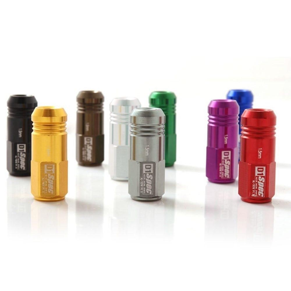D1spec Jdm Billet Alumínio Roda Racing Lug Nuts P: 1,25, L: 52mm 20 - Peças auto - Foto 3