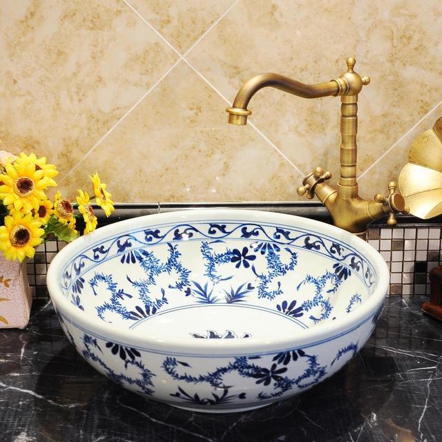 Blauen Und Weißen Chinesischen Antiken keramik waschbecken ...