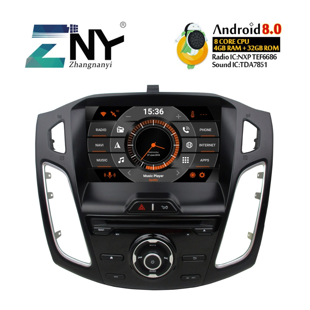 9 IPS Android 9.0 Auto Stereo GPS For 2011 2012 2013 2014 2015 2016 2017 Focus Car DVD Radio FM Navigation WiFi DSP Carplay