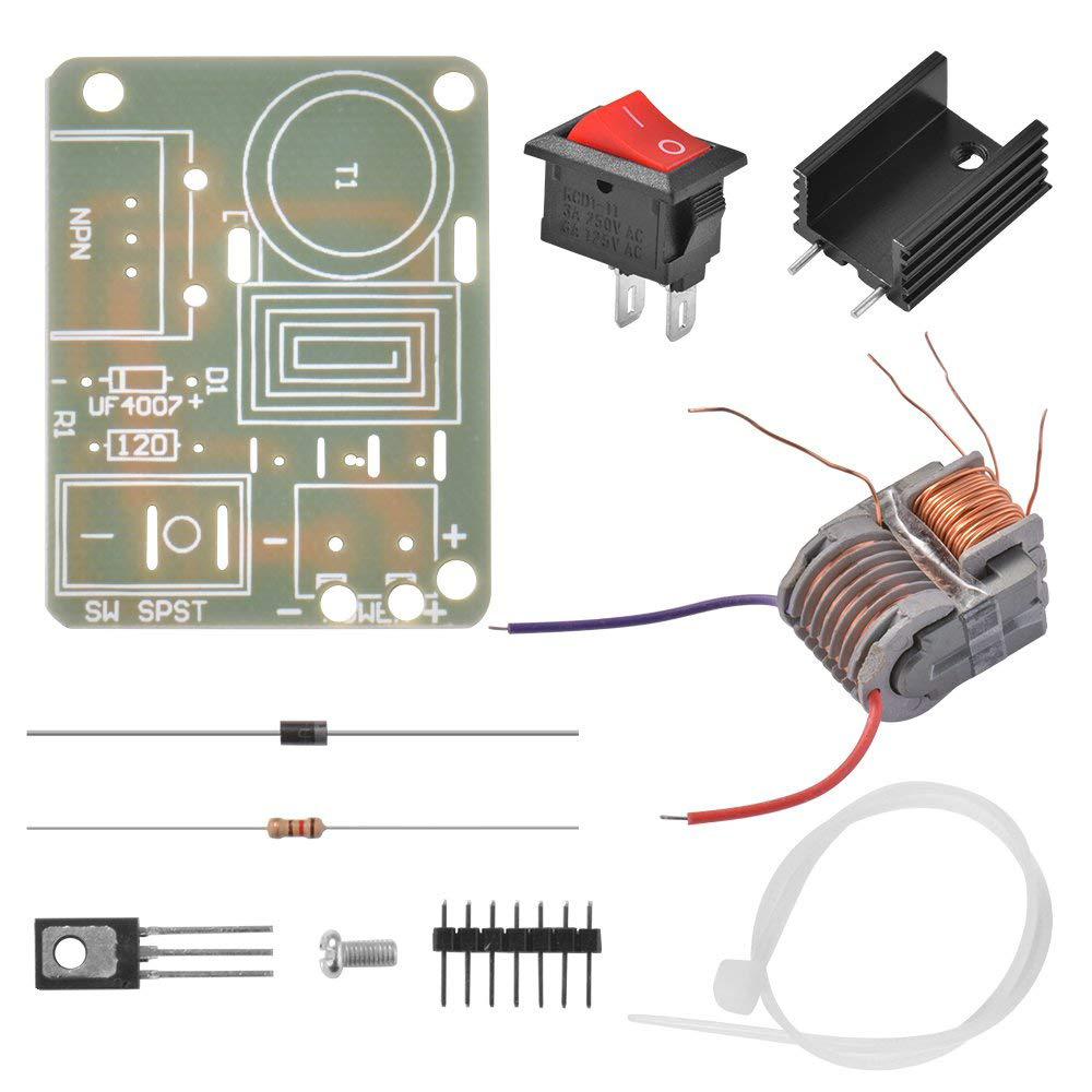 DIY 15KV Transformer Booster High Frequency High Voltage Step-up Coil  Inverter Arc Igniter Module AD112