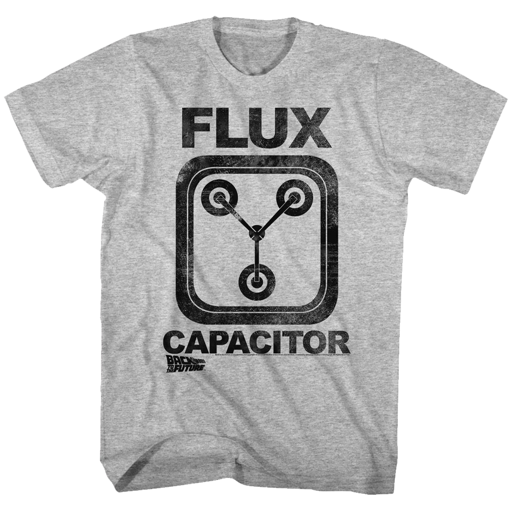 BACK TO THE FUTURE FLUX CAPACITOR GRAY HEATHER ADULT Short Sleeve T-Shirt High Quality Men T Shirt Top Tee Youth