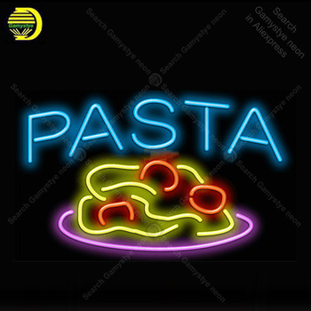 Pasta with Pasta Neon Light Sign Glass Tube Neon Bulb Sign Decor Wall Store Coffee Neon board Sign lamp anuncio luminoso Atarii